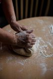 Selbst gemachte Nudeln und selbst gemachter Teig Stockfotografie