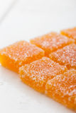 Selbst gemachte orange Fruchtmarmeladensüßigkeit Lizenzfreies Stockfoto