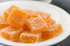 Selbst gemachte orange Fruchtmarmeladensüßigkeit Lizenzfreie Stockfotos