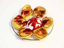 Selbst gemachte Pfannkuchen Stockfoto