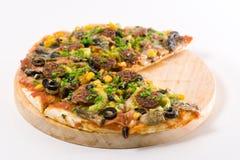 Selbst gemachte Pizza Stockfotografie