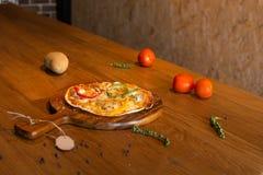 Selbst gemachte Pizza Stockbilder