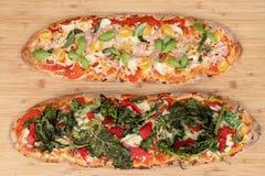 Selbst gemachte Pizzas Lizenzfreies Stockbild