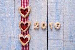 2016 selbst gemachte Plätzchen Lizenzfreies Stockbild