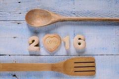 2016 selbst gemachte Plätzchen Lizenzfreie Stockfotos