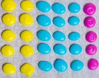 Selbst gemachte Süßigkeitpunkte Stockfotografie