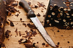 Selbst gemachte Schokolade mit Haselnüßen 2 Lizenzfreie Stockfotos