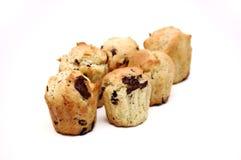 Selbst gemachte Schokoladenmuffins Stockfotos