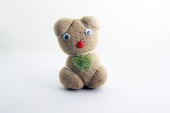 Selbst gemachte Sojabohnensprossen auf lokalisiert stockfotos