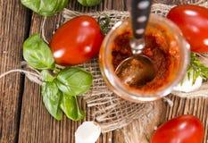 Selbst gemachte Tomatensauce Stockfotografie
