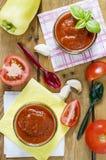 Selbst gemachte Tomatensauce Stockfotos