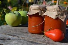 Selbst gemachte Tomatensauce stockbilder