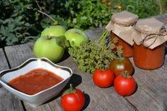 Selbst gemachte Tomatensauce stockbild
