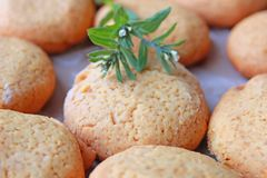 Selbst gemachter Airy Cookies stockbild