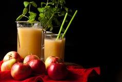 Selbst gemachter Apfel und Zitronensaft Lizenzfreies Stockfoto