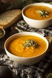Selbst gemachter Autumn Butternut Squash Soup Stockbilder