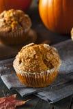Selbst gemachter Autumn Pumpkin Muffin Stockfotos