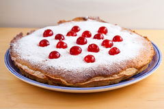 Selbst gemachter bakewell Pudding Stockfoto