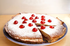 Selbst gemachter bakewell Pudding Stockfotos