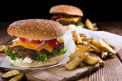 Selbst gemachter Burger Stockfotografie