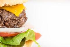 Selbst gemachter Burger und Pommes-Frites lizenzfreies stockbild