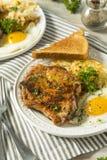Selbst gemachter Fried Breakfast Pork Chops Lizenzfreie Stockbilder
