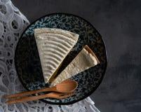 Selbst gemachter frischer Milchcremekuchen und -käsekuchen Lizenzfreies Stockbild