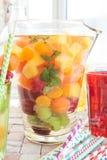 Selbst gemachter Fruchtpunsch Lizenzfreie Stockfotografie