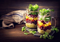 Selbst gemachter Gemüsesalat Lizenzfreies Stockbild