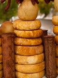 Selbst gemachter geräucherter Käse Lizenzfreie Stockfotos