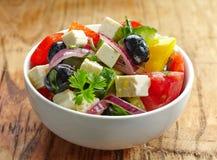 Selbst gemachter griechischer Salat Stockbilder