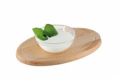 Selbst gemachter Joghurt Lizenzfreie Stockbilder