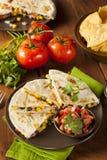 Selbst gemachter Käse und Bean Quesadilla stockfotografie