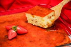 Selbst gemachter Käsekuchen lizenzfreie stockfotografie