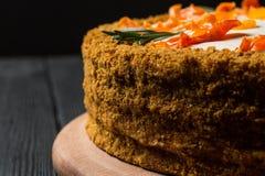 Selbst gemachter Karottekuchen Lizenzfreie Stockfotos