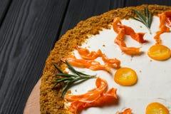 Selbst gemachter Karottekuchen Stockbilder