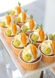 Selbst gemachter Karottenkuchen Lizenzfreies Stockbild