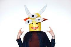 Selbst gemachter Kopf eines feenhaften Geschöpfs auf Menschen Lizenzfreie Stockfotografie
