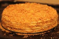 Selbst gemachter Kuchen/Käsekuchen mit Orange, Kalk und Schokolade stockfotografie