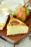 Selbst gemachter Kuchen mit Birnen Lizenzfreies Stockbild