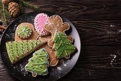Selbst gemachter Lebkuchen des neuen Jahres Stockfotografie