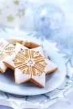 Selbst gemachter Lebkuchen für Weihnachten lizenzfreies stockbild