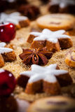 Selbst gemachter Lebkuchen und Plätzchen für Weihnachten lizenzfreie stockbilder