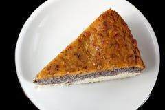 Selbst gemachter Mohnkuchen gemacht vom paleo und von den vegetarischen freundlichen Bestandteilen Stockbilder