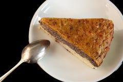 Selbst gemachter Mohnkuchen gemacht vom paleo und von den vegetarischen freundlichen Bestandteilen Stockfotografie