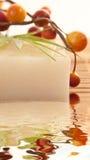 Selbst gemachter Olivenöl-Stab der Seife Stockbild