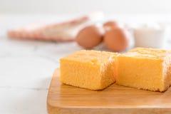 Selbst gemachter orange Kuchen Lizenzfreies Stockfoto
