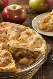 Selbst gemachter organischer Apfelkuchen-Nachtisch Lizenzfreies Stockfoto