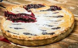 Selbst gemachter organischer Berry Pie mit Blaubeeren Lizenzfreies Stockfoto