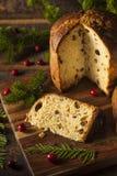 Selbst gemachter Panettone-Frucht-Kuchen lizenzfreie stockfotografie